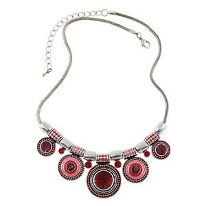 Red and Pink Statement Necklace
